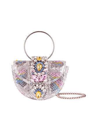GEDEBE Mini Brigitte Multicolor Python Bag