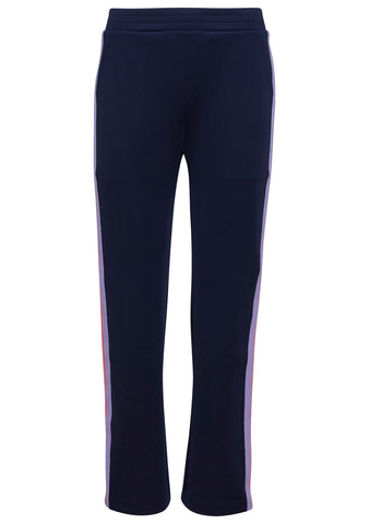 Mira Mikati Navy Popper Side Stripe Jogger Pants
