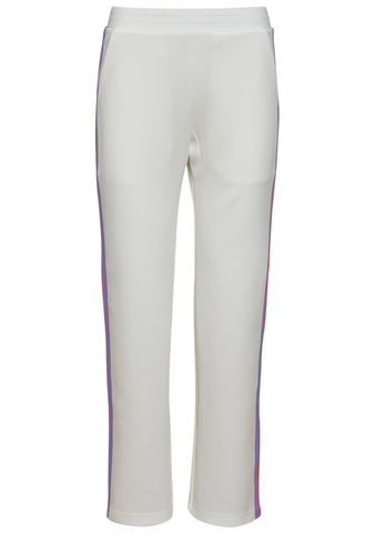 Mira Mikati White Popper Side Stripe Jogger Pants
