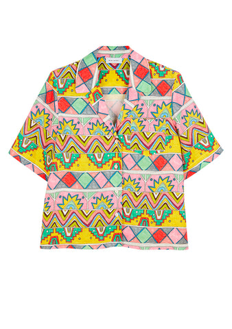 Mira Mikati Ethnic Print Short Sleeve Shirt shop online at lot29.dk