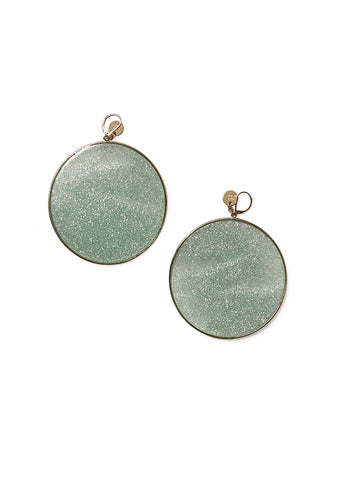 Missoni Green Glitter Hoop Earrings