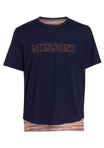Missoni Men Navy Logo Tee
