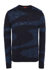 Missoni Men Navy Marble Crewneck Sweater