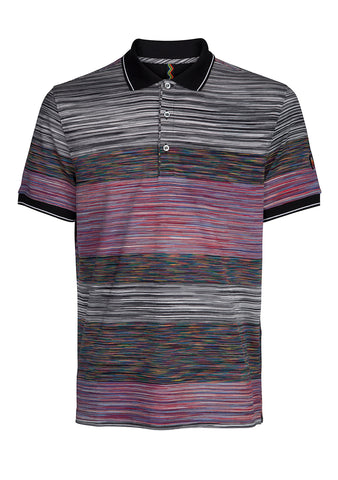 Missoni Striped Cotton Polo Shirt Pre Fall 2018