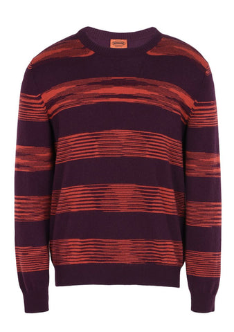 Missoni Men Red and Purple Cashmere Sweater