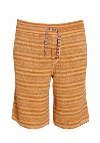 Missoni Men Yellow Striped Knit Shorts LOT#29