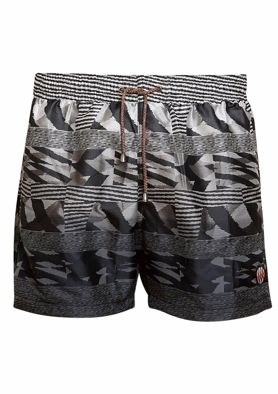 Black & White Swim Shorts