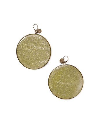 Missoni Yellow Glitter Hoop Earrings