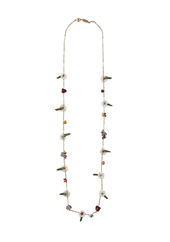 Missoni Flower Charm Necklace