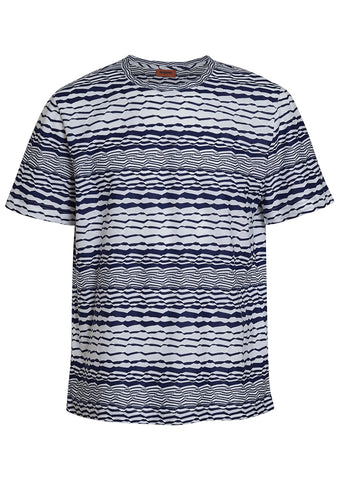 Missoni Men White & Navy Tee
