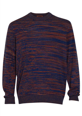 Missoni Men Purple Cashmere Crewneck Sweater