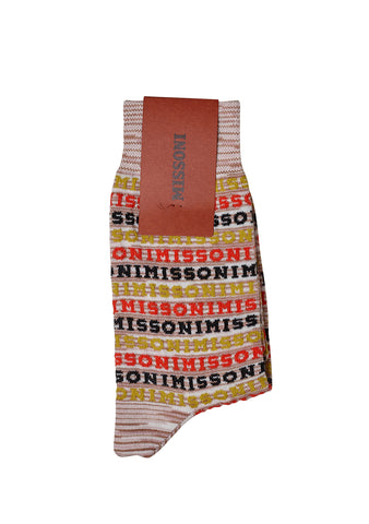 Missoni Beige Logo Socks