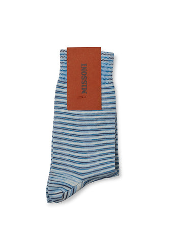 Missoni Blue Knitted Socks