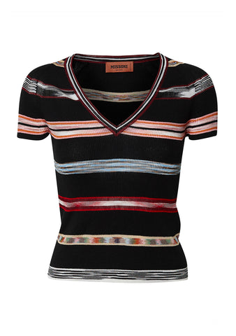 Missoni Black V-Neck Top shop online