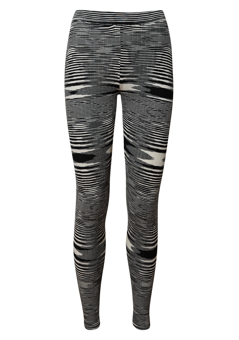 Black Striped Leggings