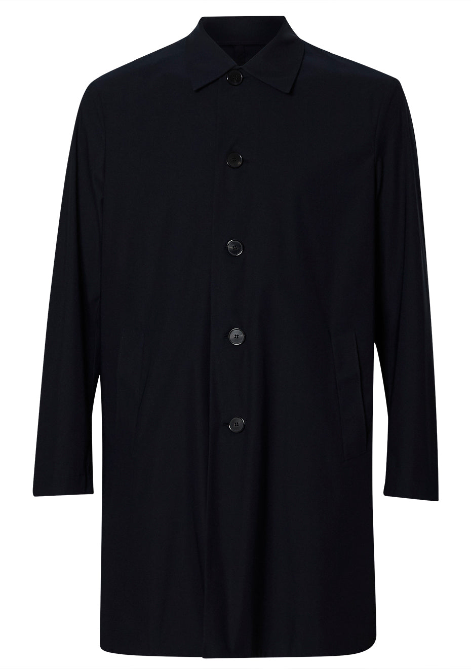 Dark Blue Technical Mac Coat