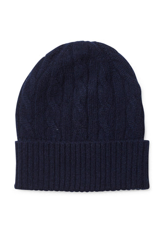 Bad Habits Navy Cashmere Hat