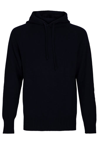 Bad Habits Navy Cashmere Hoodie shop online at lot29.dk