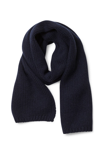 Bad Habits Navy Cashmere Scarf