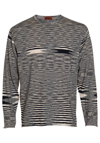 Missoni Navy Striped Knit Sweater