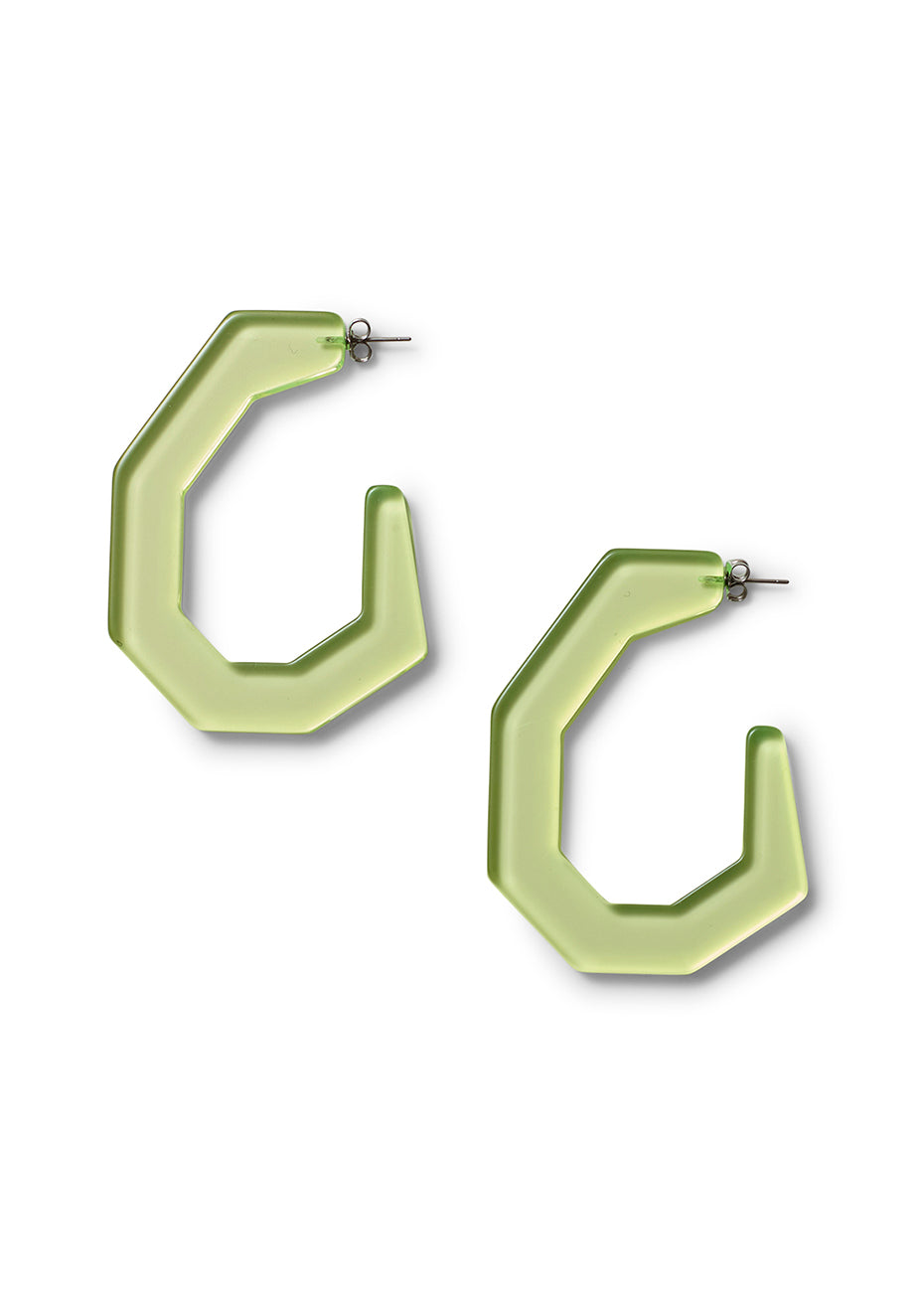 Clear Neon Yellow Factor Earrings