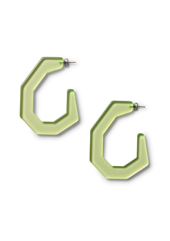 Rachel Comey Clear Neon Yellow Factor Earrings