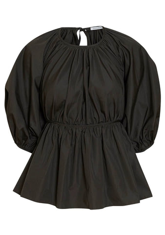 Cecilie Bahnsen Signe Open Back Puff Sleeve Top