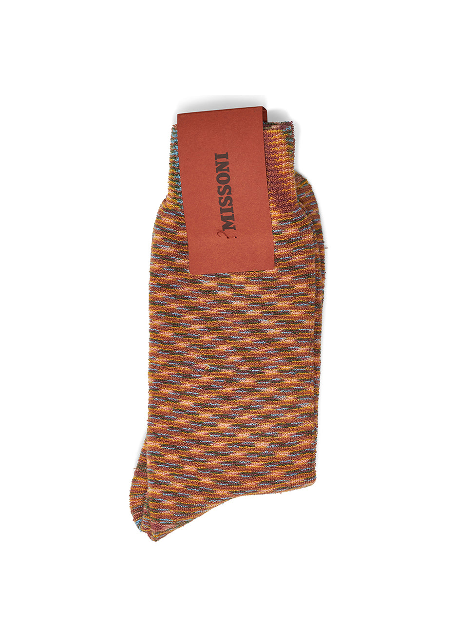 Brown & Orange Terry Socks