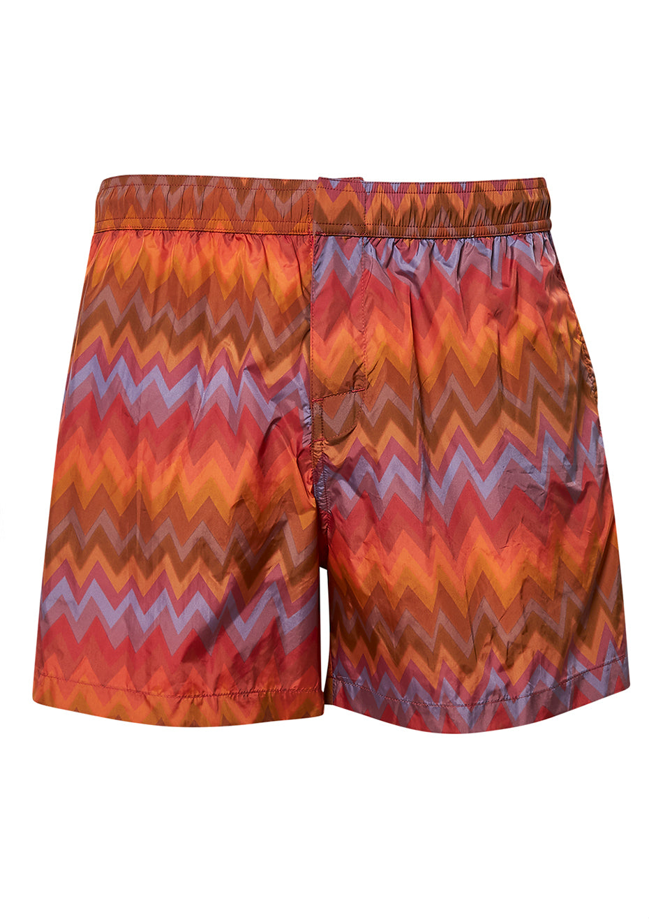 Orange Zigzag Swim Shorts