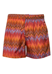Missoni Mare Orange Zigzag Swim Shorts shop online at lot29.dk