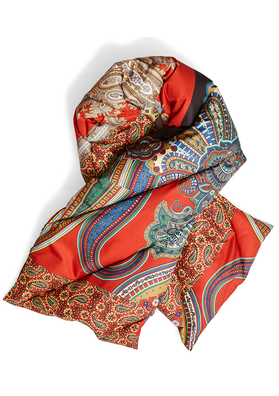 Paisley Puffer Scarf