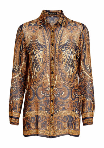 Etro Paisley Print Silk Shirt LOT#29