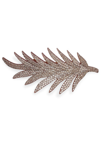 MC Davidian Pale Lilac Feather Hair Clip
