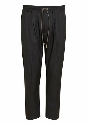 Martin Asbjørn Dark Grey Cropped Drawstring Trousers LOT#29