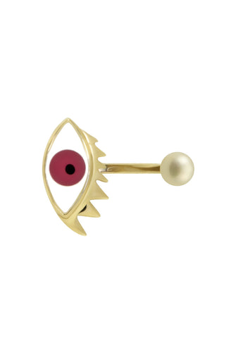 Delfina Delettrez Pink Eye Piercing Ring