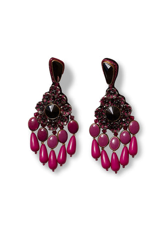 Etro Pink Beaded Earrings