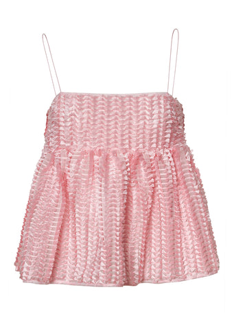 Cecilie Bahnsen Selena Pink Top shop online at lot29.dk