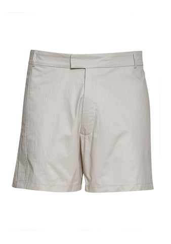 Tonsure Axel Pleat Check Print Cropped Shorts