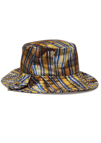 Tonsure Pleat Check Print Bucket Ha