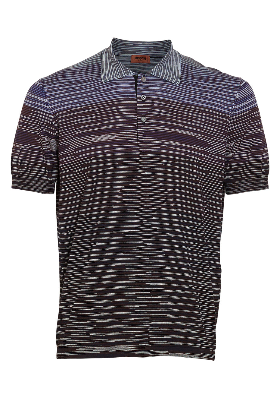 Purple Striped Polo Shirt