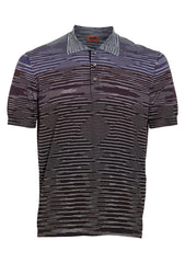 Missoni Purple Striped Polo Shirt