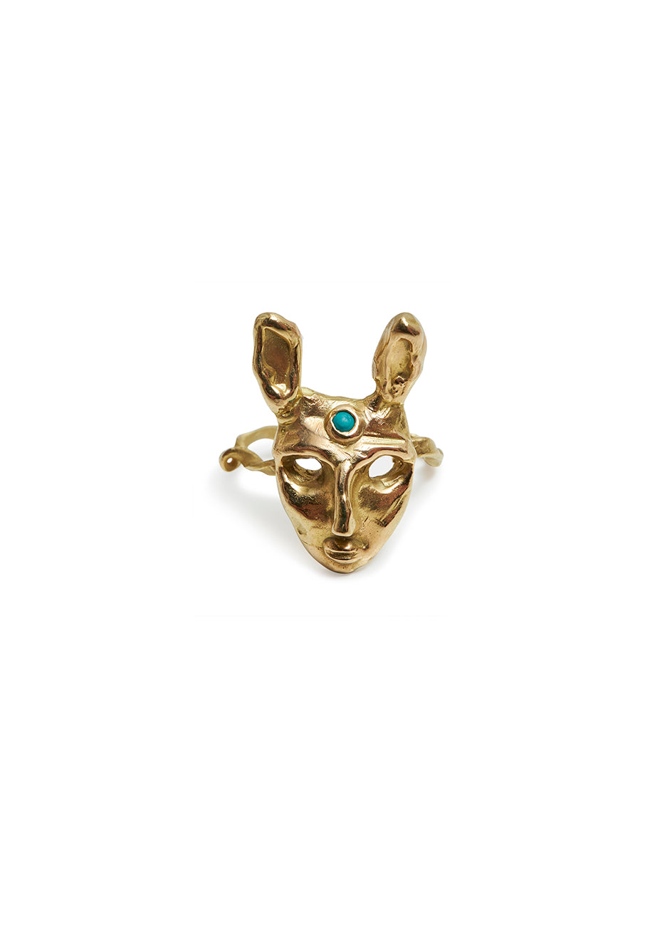 Rabbit Ring With Turquoise