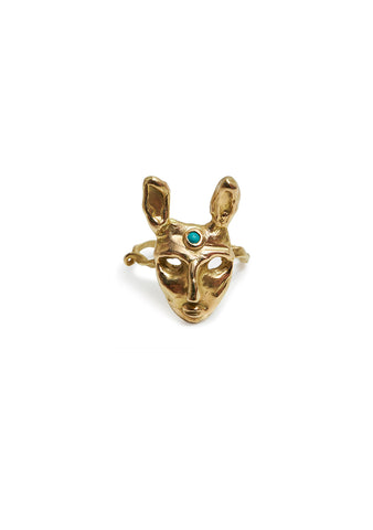 Olga Bonne Rabbit Ring With Turquoise shop online at lot29.dk