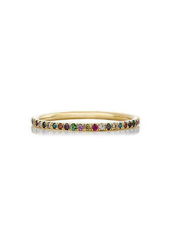 Ileana Makri Rainbow Thread Band Ring