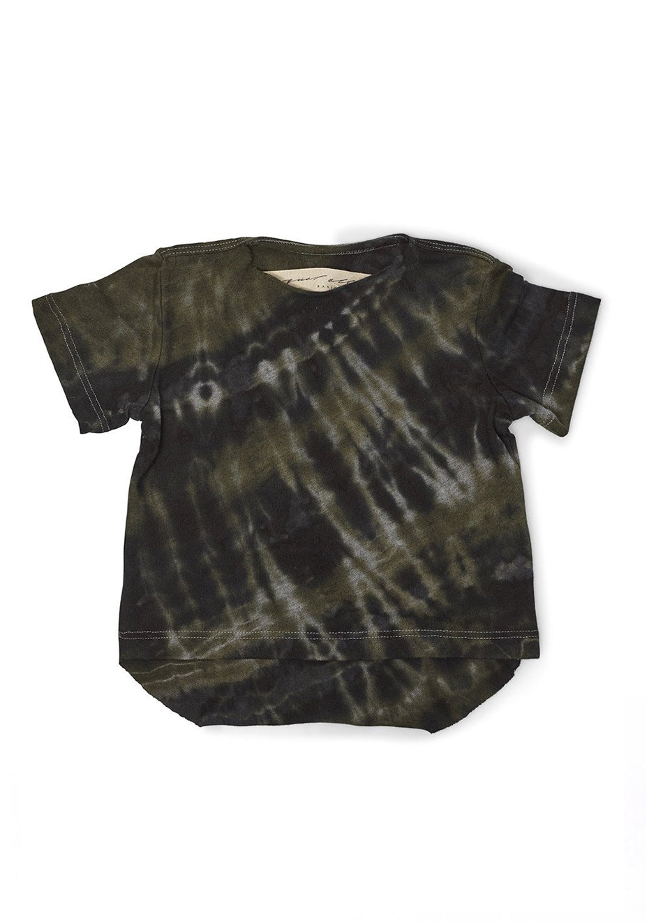 Army Tie Dye Jersey Baby Tee