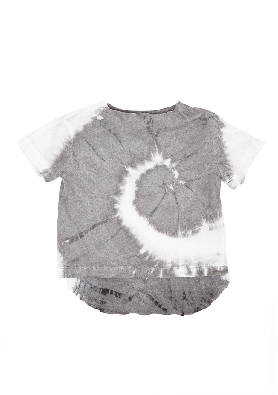 Grey White Tie Dye Jersey Baby Tee