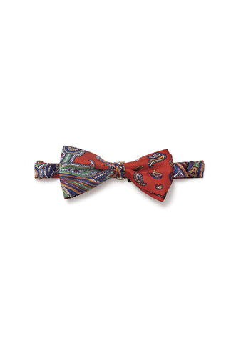 Etro Men Red Printed Bow Tie