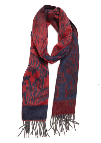 Etro Red & Blue Cashmere Scarf