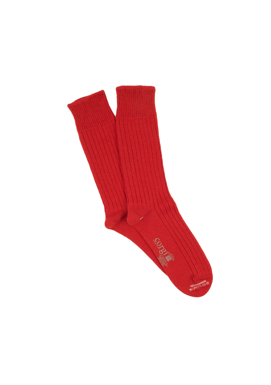 Men's Red Cashmere Socks