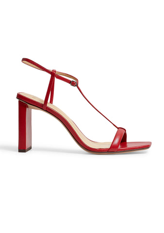 Alexandre Birman Lally Red Leather Sandals shop online